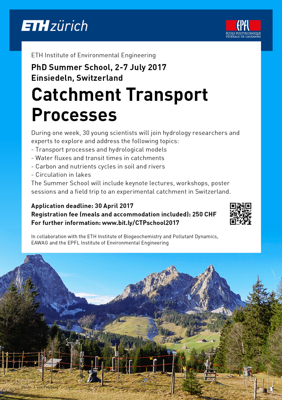 Catchment Transport Processes Summer School - Poster